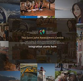 Non-Profit Organization Website Design - Newcomers Centre