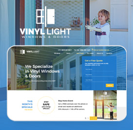 Web Design for Vinyl Windows & Doors Company